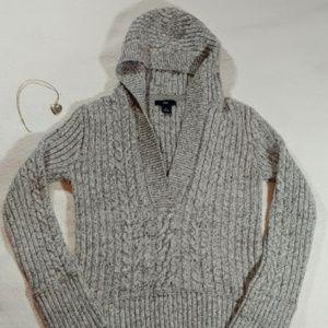 GAP ❣ Hooded Knit Sweater ❣ Grey